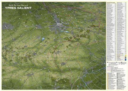 Fir Tree Map - WW1 - Ypres Salient - Paschendaele - Flat/Rolled Map
